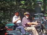 Bill Barham giving Reggie Ponder his first motorcycle ride on Sat. Sept. 17th!