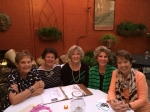 Classmates having dinner at Pawley's Island....left to right, Jane Wayburn McMillan, Matilda Mann McBurney, Camille