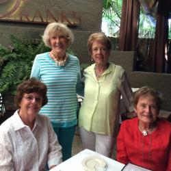 Matilda Mann, Sharon Ridgeway and Jane Wayburn visiting friend and classmate, Camille Grice at Litchfield Beach, SC